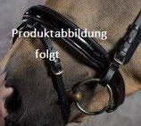 Reithalfter - SUPERSOFT - englisch - schwarz unterlegt / MATT - mit Sperrriemen