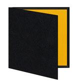 Mini album zwart/geel geribbeld
