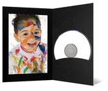 CD/DVD & Foto presentatiemap  zwart met zwart passepartout
