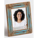 Fotolijst Steigerhout luxe 15 x 20 cm. Kleur Blauw