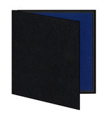 Mini album zwart/blauw geribbeld