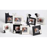 Fotolijst Hond 10 x 15 cm.(foto) Kleur wit vierkant