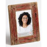 Fotolijst Steigerhout luxe 10 x 15 cm. Kleur Rood