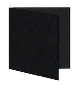 Mini album zwart/zwart geribbeld