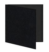 Mini album zwart lederachtig mat