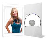 CD/DVD & Foto presentatiemap Glanzend wit met grijs randje