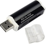 USB 2.0 Multi Geheugenkaartlezer MS/TF/M2/SD Kaartlezer
