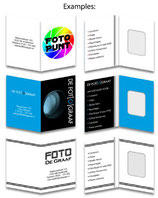 Pasfotomapje  wit bedrukt 4 kleuren (Full-color)