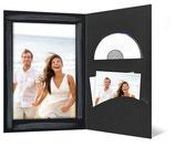 CD/DVD & Foto presentatiemap zwart zilver en penseelstreek