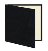 Mini album zwart/creme geribbeld