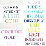3. Schriftfarbe