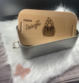 Lunchbox mit Frühstücksbrett - Deckel personalisiert