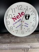Personalisierte Kinderzimmer Uhr