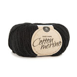 Cotton Merino 170 m -  schwarz / fb 20