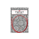 Chiao Goo TWIST red cable, small, 75 cm