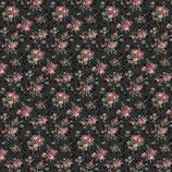 Kleine Rosen-Bouquets schwarz, Quilt Gate 03329550716