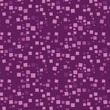 Small Geo Squares Violet, Moonlight Poppies, Benartex, 08085950718