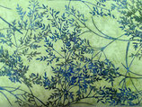 Blaue Äste auf grün, Batik, Hoffman Fabrics, 05275550212