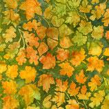 Grüne und gelbe Blätter auf grün, Batik, Robert Kaufman, 11016750617