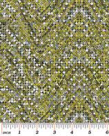 Palindromes, Punkte grün-grau, Paula Nadelstern, Benartex 04104550714