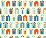 Nautical, Beach Huts, Makower, 04378050614
