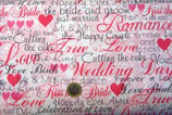 Wedding Day, Schrift pink - schwarz, Michael Miller 09285050712