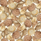 Packed Shells, by Charlene Audrey for Quilting Treasures, 04054050816