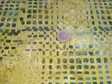Grüne Vierecke auf gelbem Grund, Batik, Timeless Treasures, 09659050816