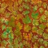 Grüne und gelbe Blätter auf braun, Batik, Robert Kaufman, 11026750617