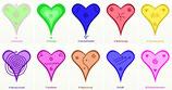 Herz-Energiesymbole, elektronisch