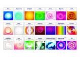 Spray-Energiesymbole, elektronisch