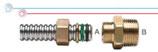 Raccordo ridotto per collegamento tra tubi CSST e terminali filettati femmina