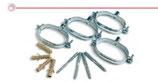 Collari ovali di fissaggio per tubi doppi solare.