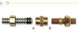 Raccordi per collegamento tra tubi CSST e tubi / terminali in rame.