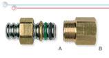 Raccordi per collegamento tra tubi CSST e terminali filettati maschio