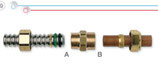 Raccordi per collegamento tra tubi CSST e tubi/terminali in rame.