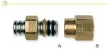 Raccordi per collegamento tra tubi CSST e terminali filettati maschio.