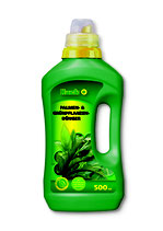 Hack Palmendünger & Grünpflanzendünger NPK 7-4-5 + Spurennährstoffe in der 500ml Flasche