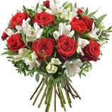 Bouquet rond Tendance Rouge