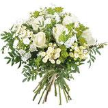 Bouquet rond Tendance Blanc