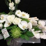 Bouquet structuré Tendance Blanc