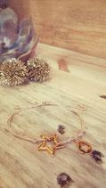 """weihnachtliche Wanda """"Stars"""" beige"""