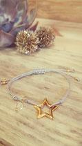 """weihnachtliche Wanda """"Sparkling Star"""" grau"""