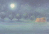 """Kinderpostkarte """"Nacht"""""""