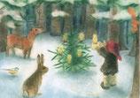 """Kinderpostkarte """"Waldweihnacht"""""""
