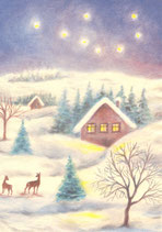 "Kinderpostkarte ""Winterlandschaft"""