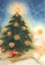 """Kinderpostkarte """"Christkind am Weihnachtsbaum"""""""