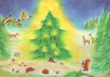 """Kinderpostkarte """"Christmas in the forest"""""""