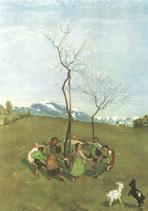 """Postkarte  """"Frühlingsreigen"""""""