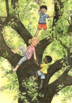"""Kinderpostkarte """"Aufwärts"""""""